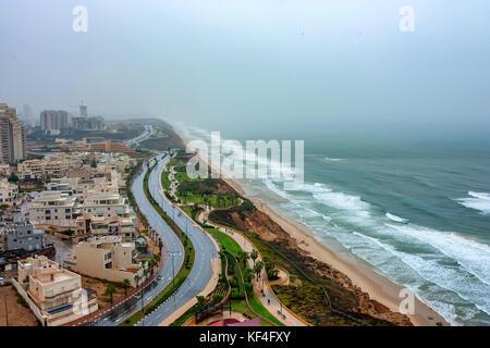 Scenic view of Netanya city, Israel - Stock Photo