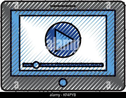 media player interface for websites or applications for tablet - Stock Photo