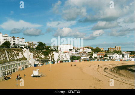 Seafront buildings overlooking the harbour at Broadstairs, Isle of Thanet, on the East Kent coast, UK - Stock Photo