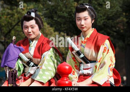 Japan, Tokyo, Jidai Matsuri, festival, people; - Stock Photo