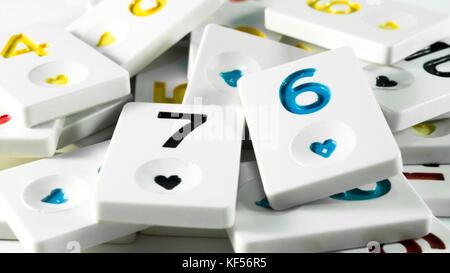 Turkey okey game with white background - Stock Photo