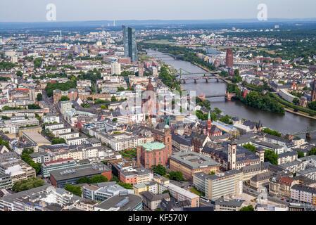 Stadtansicht von Frankfurt am Main, Deutschland - Stock Photo