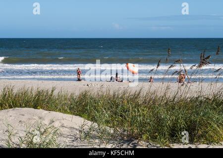 Silky Sand Beach At Myrtle South Carolina USA