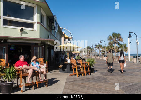 The Boardwalk At Myrtle Beach South Carolina USA