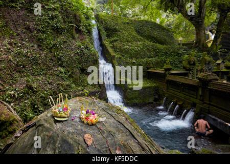 Men's half of the bathing pool in the Mengening Temple. Tampaksiring, Bali, Indonesia. - Stock Photo