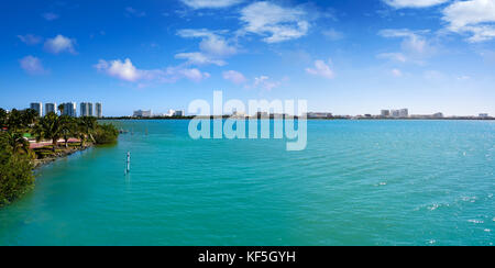 Cancun Pok-Ta-Pok area in Hotel Zone at Nichupte Lagoon of Mexico - Stock Photo