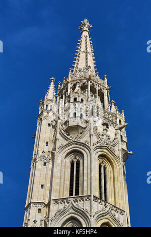 Tower of the Matthias Church in Budapest, Hungary - Stock Photo