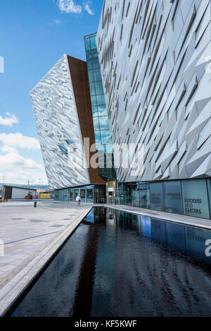 Titanic Belfast, Museum, Belfast, County Antrim, Northern Ireland, United Kingdom - Stock Photo