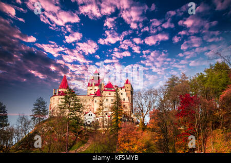 Bran Castle, Transylvania, Romania. A medieval building known as Castle of Dracula. - Stock Photo
