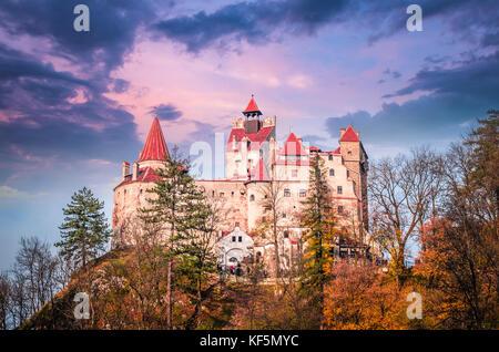 Bran Castle, Transylvania, Romania. A medieval building known as Castle of Dracula. - Stock Photo