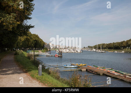 Harbour, St Valery sur Somme, Picardy, France - Stock Photo