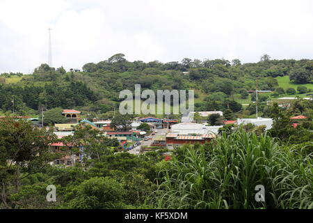 View of Santa Elena town (Monteverde), Puntarenas province, Costa Rica, Central America - Stock Photo