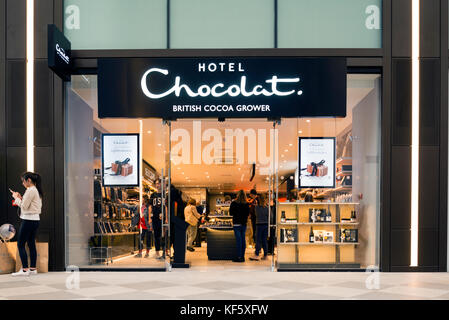 Hotel Chocolat store, UK. - Stock Photo