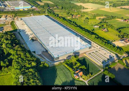 Amazon logistic center Werne, under construction, Baustelle Amazon Logistik Werne, Logistikzentrum, Internethandel, - Stock Photo