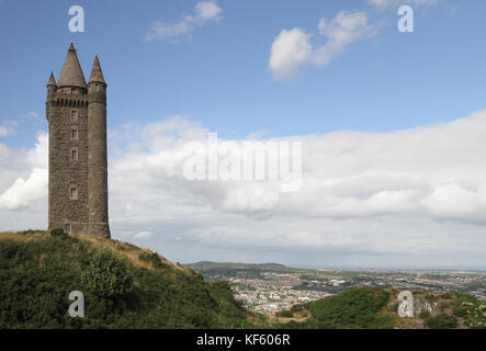 Scrabo Tower Newtownards County Down Northern Ireland. - Stock Photo