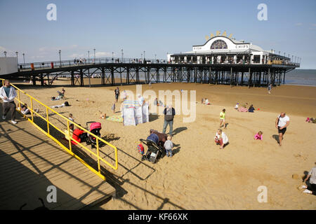 Cleethorpes Pier, UK. - Stock Photo