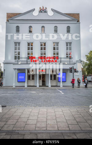 London, England, UK. 24 October, 2017.  The Opening Night of Dr Seuss's The Lorax at the Old Vic Theatre on The Cut in London, SE1. Stock Photo