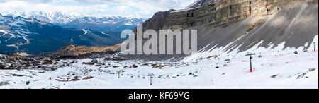Panorama of ski resort, Madonna di Campliglio, Italy - Stock Photo