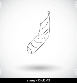 Christmas Sock flat icon - Stock Photo