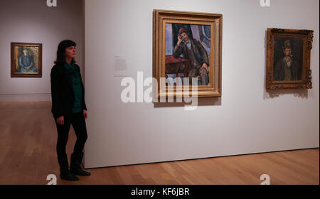 National Portrait Gallery, London, UK. 25th Oct, 2017. Self-portraits by Paul Cézanne, painted in 1885 and 1886 - Stock Photo