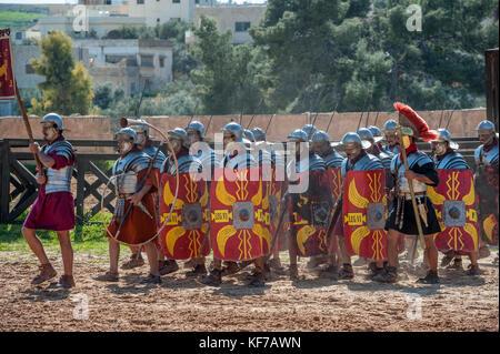 Roman Army and Chariot Experience (RACE) Jerash, Jordan - Stock Photo