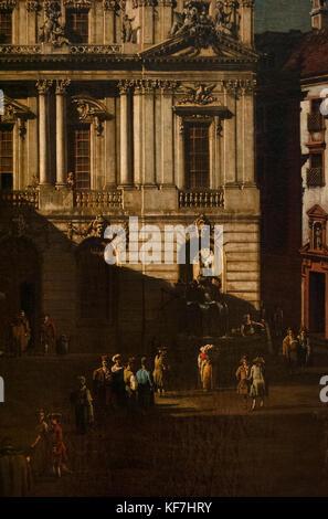 Bernardo Bellotto (1721/2-1780). Italian urban landscape painter. Vienna University square, 1758-1761. Kunsthistorisches - Stock Photo