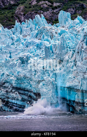 USA, Alaska, Glacier Bay, breathtaking views of the Grand Pacific Glacier up Tarr Inlet, seen from aboard the Cruise - Stock Photo