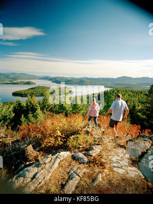 USA, Idaho, a couple hikes in the mountains next to Priest Lake - Stock Photo
