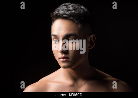 handsome young asian man - Stock Photo