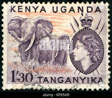 Postage Stamp - Kenya - Stock Photo