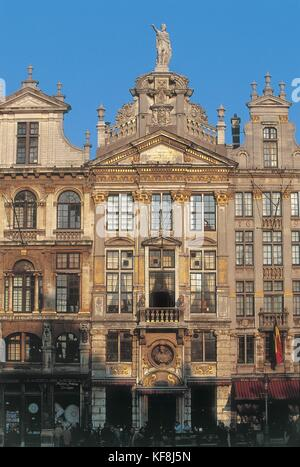 Belgium, Brussels. Grand Place. Guildhouse - Stock Photo