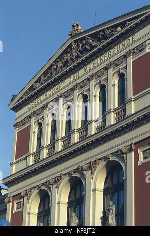Austria, Vienna. Historic centre (UNESCO's World Heritage Site, 2001). Music Society (Gesellschaft der Musikfreunde). - Stock Photo