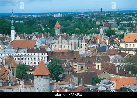 Estonia, Historic Centre (Old Town) of Tallinn (Vanalinn). UNESCO World Heritage List, 1997 - Stock Photo