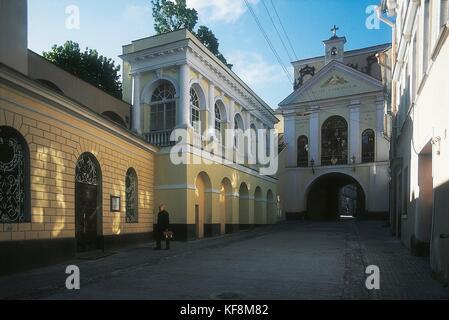 Lithuania, Vilnius, Gate (16th century) - Stock Photo