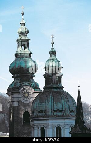 Austria, Salzburg (UNESCO's World Heritage Site, 1996). Saint Peter, or Church of St. Peter's Abbey (Stiftskirche) - Stock Photo