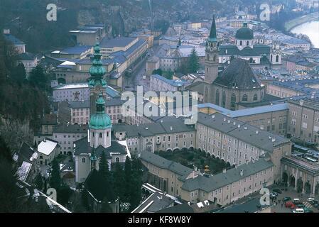 Austria, Salzburg (UNESCO's World Heritage Site, 1996) - Stock Photo