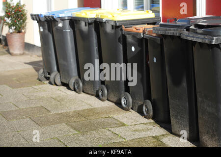 ecycling bins - Stock Photo