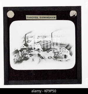 Lantern Slide   Tangyes Ltd, Cornwall Works Illustration, 1869 - Stock Photo