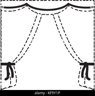 curtains icon image - Stock Photo