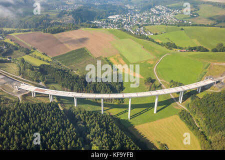 Expansion of the A46 motorway with the highest bridge of North Rhine-Westphalia, Sauerland Bridge, expansion of - Stock Photo