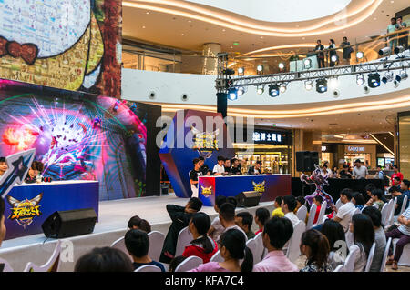 Kings Smackdown, a League of Legends style video game competition and audience in Shenzhen, China - Stock Photo