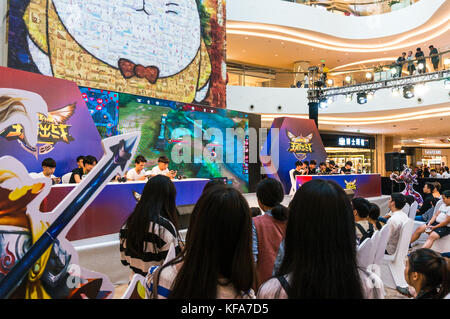 Video game competition and audience in Shenzhen, China - Stock Photo