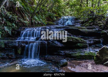 The Leura Cascades, Blue Mountains National Park, NSW, Australia - Stock Photo