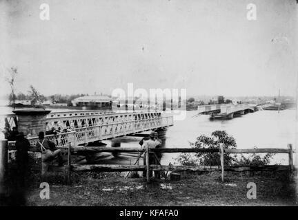 1893 Brisbane flood Indpilly Rw Br - Stock Photo