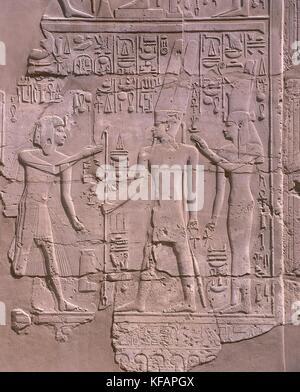 Egypt, Ancient Thebes (UNESCO World Heritage List, 1979). Luxor. Karnak. Great Temple of Amon, Great Hypostyle Hall - Stock Photo