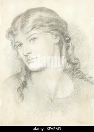 Alexa Wilding, by Dante Gabriel Rossetti, 1865 - Stock Photo