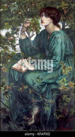 The Day Dream (1880). The sitter is Jane Morris. by Dante Gabriel Rossetti - Stock Photo