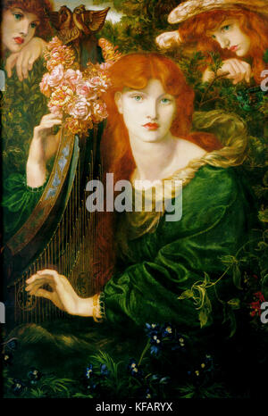 Alexa Wilding by Dante Gabriel Rossetti 1873 - Stock Photo