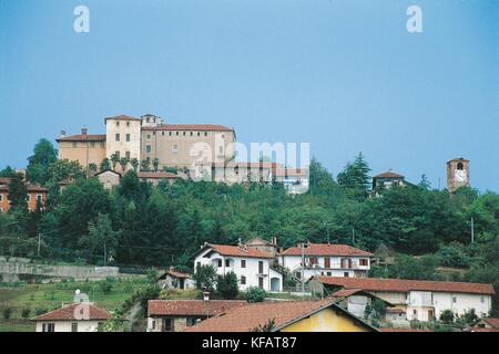 Italy, Piedmont Region, Manta, Della Manta Saluzzo Castle - Stock Photo