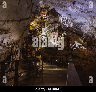 Vietnam's Paradise cave, wonderful cavern at Bo Trach, Quang Binh province, underground beautiful place for travel, - Stock Photo